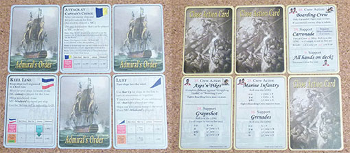 Cartas de acción de Admiral orders naval tactics in the age of sail