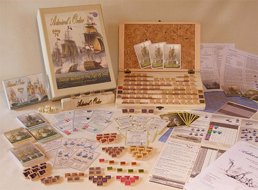 Componentes de Admiral orders naval tactics in the age of sail
