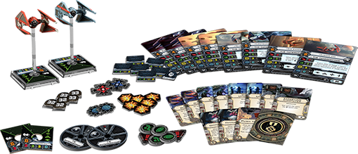 X-Wing - Ases del imperio Empire_Aces_Components